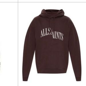 ALLSAINTS dropout' Hoodie With Logo Brown XL NWT
